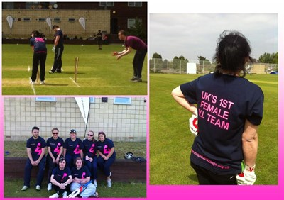 UK's first blind Women's Cricket Team in action