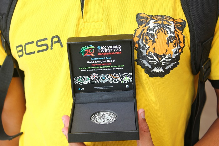 Coin used for toss during Nepal VS Hong Kong game in ICC T20 World Cup 2014