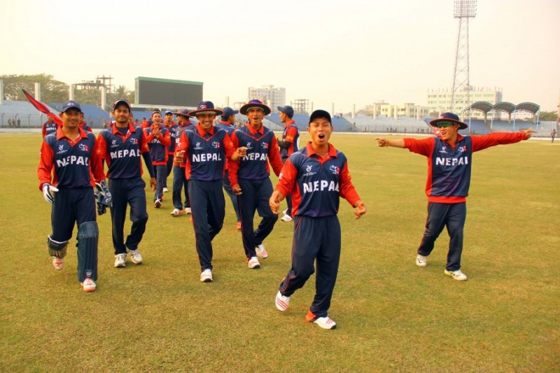 Nepal U19 wins against NZ U19