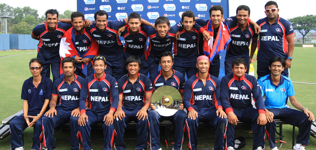 Nepali Players with trophy