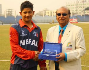 Raju Rijal - man of the match