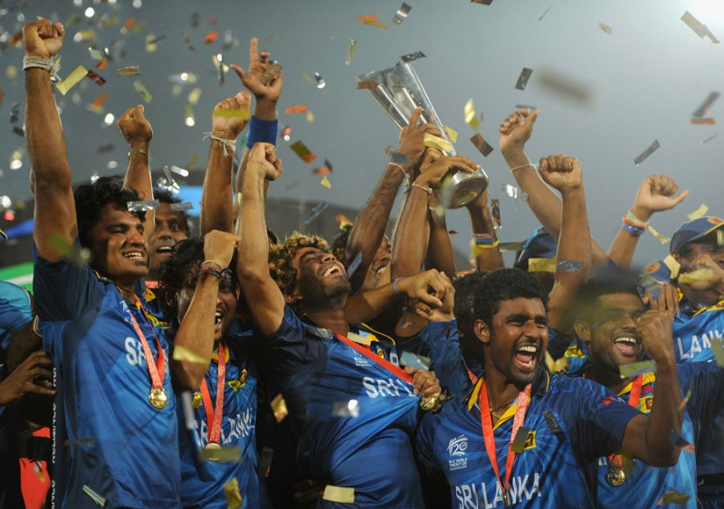 The victory gave Sri Lanka their first world title in 18 years, having finished runners-up in four of the last six world events before this one. The players celebrated their feat wildly. Photo: ICC