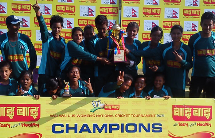 U19 Womens Cricket champion 2071